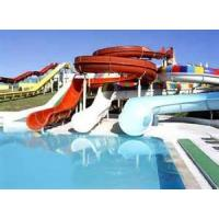 Wholesale 2m Height Fiberglass Outdoor Aqua Blue Water Park For Family Entertainment , Commercial Water Slides from china suppliers