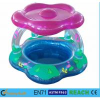Wholesale Sun Shade Type Inflatable Swimming Pool Toddler PVC Pool With Blue Print from china suppliers