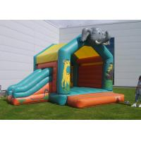 China Elephant Inflatable Combo Jungle Bouncy Castle Slide Hire For Play Park on sale