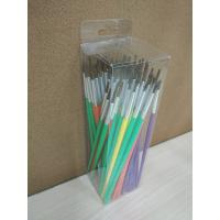 Wholesale Pony Hair Artist Painting Brushes Set Long Handle With 6 Sizes 12 Pcs Per Size from china suppliers