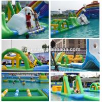 2017 New Adults Lake Inflatable Water Park On Water, Open Sea Floating Water Obstacle Course For Sale