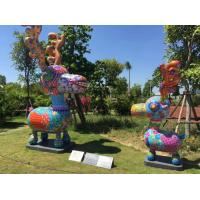 Wholesale Colorful Deer Fiberglass Animal Sculptures 2 Meters Height For Lawn Decor from china suppliers