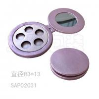 Wholesale Comestic Glasses Portable Makeup Mirror , Round Folding Travel Mirror from china suppliers