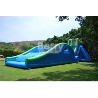 Wholesale 0.55mm PVC Tarpaulin Giant Inflatable Slide For Event / Huge 42ft Tall Drop Kick Water Slide from china suppliers