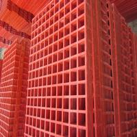 Quality ISO9001 Blue Plastic Floor Grating Anti Corrosion Frp Material Free Sample for sale