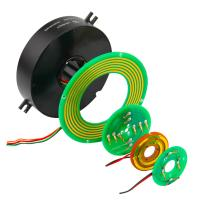 Wholesale 2 Circuits 5A Pancake Slip Ring with Precious Metal Contact for Emergency Lighting from china suppliers