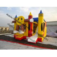 China Happy face inflatable bouncer trampoline   Inflatable halloween  Moonwalk combo bouncy castle on sale
