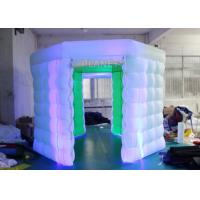 Quality 2 Doors Inflatable Photo Booth Kiosk Diamond Shape With Air Blower for sale