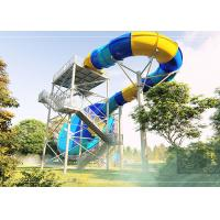 Wholesale Durable Tornado Water Slide Stainless Steel Fastener 14.3m Platform Height from china suppliers