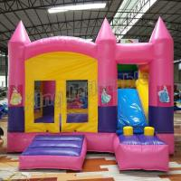 Wholesale Outdoor Kids Game Princess Inflatable Bouncy Castle With Slide In Pink Colour from china suppliers