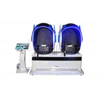 China 360 Degree Triple 9D VR Simulator With Shining LED Light 380V TWO players for sale on sale