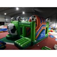Quality Soccer Football Inflatable Jumping Castle Digital Printing 3 Years Warrenty for sale