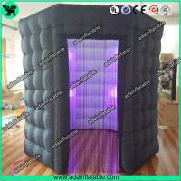 Wholesale Popular Oxford Material Square Black Inflatable Photo Booth Inflatable Tent With Led from china suppliers