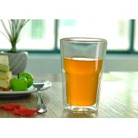 Wholesale Fashion Clear Glass Tea Cups For Office / Home , Clear Glass Coffee Mugs from china suppliers