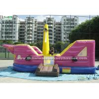 China Purple Kids Jalor Inflatable Bounce Houses / Jump And Slide Inflatables for Parks on sale
