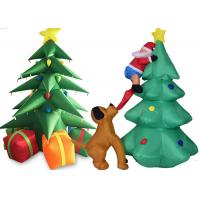 China Custom Inflatable Christmas Decorations Air Inflated Christmas Tree Arch Door on sale