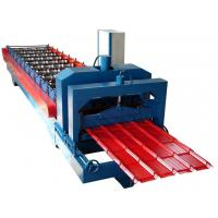 Wholesale Professional Corrugated Sheet Roll Forming Machine Blue Color 0.3-0.8mm Thickness from china suppliers