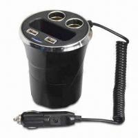 Wholesale 12V Cup-shaped Power Socket with 2 USB Ports, Power Any Two 12V Appliances from Car from china suppliers