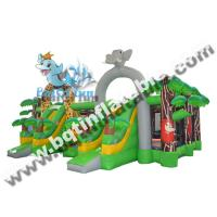 Wholesale Inflatable combo fun city,Inflatable amusement park,Inflatable jumping land with slide from china suppliers