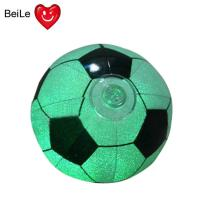 Promotion 18 inches PVC inflatable glow football with 0.22mm PVC(EN71) material