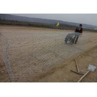 Durable Gulafan Coated Gabion Wire Mesh , Rock Cages For Retaining Walls