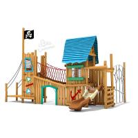 Wholesale Wood Play System Wooden Outdoor Playset Slide Equipment For Amusement Park from china suppliers