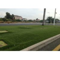 Wholesale 10mm Green Decorative Artificial Grass For Wall Roof Fibrillated 2200 Dtex from china suppliers