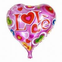 Wholesale 18-inch Valentine's Party Decoration Mylar Balloon in Heart Shape, OEM Services are Provided from china suppliers