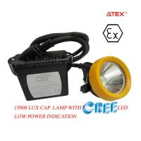 Wholesale 1 Watt 6.5Ah 3.7 v LED Miners Cap Lamp Explosion Proof For Diamond Mine from china suppliers