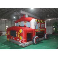 Wholesale The Blow Up Fire Truck Inflatable Bouncy Castle For Kids And Adults Party Time from china suppliers