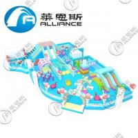 Buy cheap Public Square Inflatable Rainbow House Obstacle Course Jump House Laser Painting from wholesalers