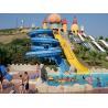 Buy cheap Hand Spray-Up Fiberglass Aqua Park Equipment , Yellow Aqua Park Ride For from wholesalers