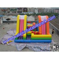China Colored Commercial Grade PVC Tarpaulin Inflatable Bouncy Castle Slide Combo on sale