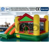 Wholesale Commercial Jumping Inflatable Bounce House Slide Combo Green PVC With Happy Hop from china suppliers