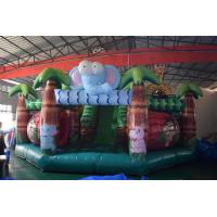 Wholesale Forest Inflatable Animals Fun City Giraffe Lion Jumping House With Slide from china suppliers