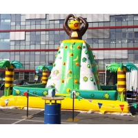 Wholesale Monkey Bounce House 0.55mm PVC Inflatable Climbing Wall from china suppliers