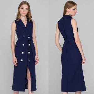 Wholesale Alibaba wholesale blue sleeveless blazer dress from china suppliers