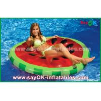 China Yellow / Red / Fruit Slice Pool Float Raw Inflatable Pool Toys For Swimming on sale