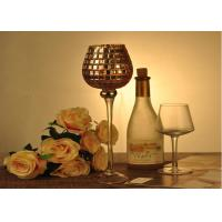 Wholesale Stemware Mosica Vintage Glass Candle Holders For Wedding Eco Friendly from china suppliers