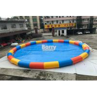 Wholesale China Factory Circle 15m Diameter Inflatable Swimming Pool For Water Ball Game With 0.6mm PVC from china suppliers