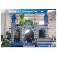 Wholesale Outdoor Grey Inflatable Jumping Castles , Inflatable Dragon Combo Bouncy Castle from china suppliers