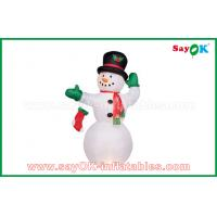 Wholesale Durable White Inflatable Snowman For Party / Holiday Decorations from china suppliers