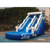China 18ft wave commercial inflatable water slide party for kids and adults with 0.55mm pvc tarpaulin material on sale