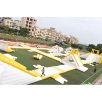 Quality Big Floating 0.9mm PVC Outdoor Inflatable Water Park Equipment OEM / ODM for sale