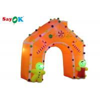 China Oxford Cloth LED Light Inflatable Arch Tent Colorful Christmas Decoration For Promotion on sale