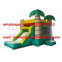 Wholesale Hot Sale Tropical Type Inflatable Bounce Castle,Children Jumping Bouncer House With Slide For Party Rental from china suppliers