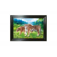 Wholesale Tigers 3D Lenticular Printing / MDF Or PS Frame 3D Animals Images from china suppliers