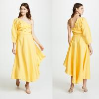 Wholesale Fashion Asymmetrical Clothing One Shoulder With Long Sleeve Woman  Maxi Dress Summer from china suppliers