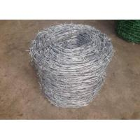 Buy cheap Single Twisted Galvanized High Tensile Barbed Wire Security For Industry from wholesalers