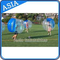 China Half Clear Crazy Body Bubble Ball / Bubble Body Ball For Soccer Games on sale